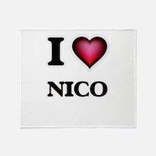 I love Nico Throw Blanket