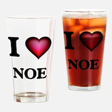 Funny I love noe Drinking Glass