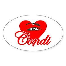 EYE HEART CONDI Oval Decal