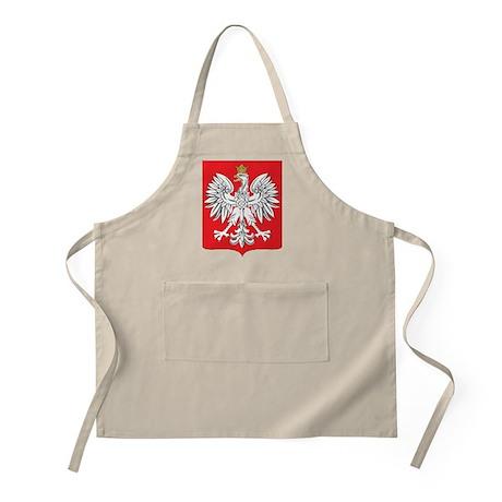 Polish White Eagle Emblem BBQ Apron