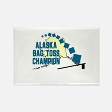 Alaska Bag Toss Champion Rectangle Magnet