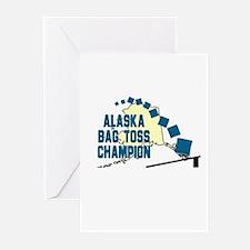 Alaska Bag Toss Champion Greeting Cards (Pk of 10)