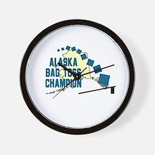 Alaska Bag Toss Champion Wall Clock