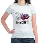 strongest muscle...brain Jr. Ringer T-Shirt