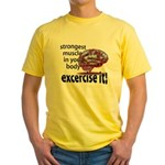 strongest muscle...brain Yellow T-Shirt