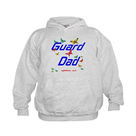 Guard Dad Butterflies Kids Hoodie