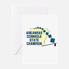 Arkansas Cornhole State Champ Greeting Cards (Pk o
