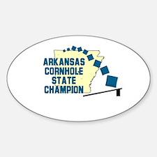 Arkansas Cornhole State Champ Oval Decal