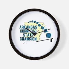 Arkansas Cornhole State Champ Wall Clock
