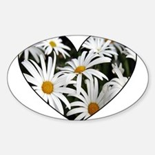 Daisy Heart Rectangle Decal