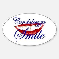CONDOLEEZZA SMILE Oval Decal