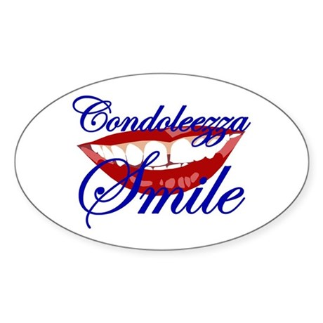 CONDOLEEZZA SMILE Oval Sticker