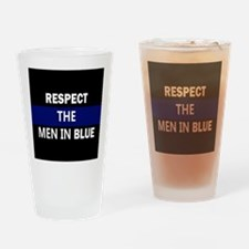 Funny Respect white Drinking Glass