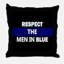 respect the men in blue Throw Pillow