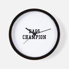 Bags Champion Wall Clock
