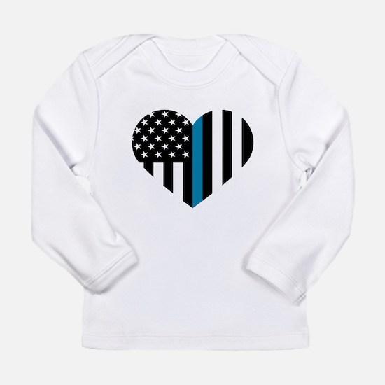 Thin Blue Line American Flag H Long Sleeve T-Shirt