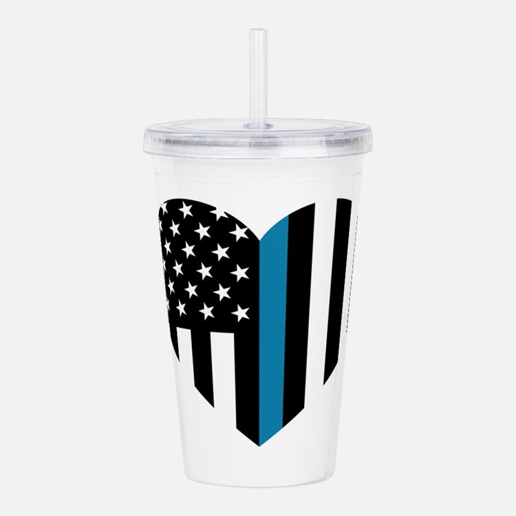 Thin Blue Line America Acrylic Double-wall Tumbler