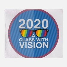 2020 A Class With Vision, Rainbow Throw Blanket