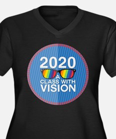 2020 A Class With Vision, Rainbow Plus Size T-Shir
