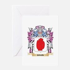 Davin Coat of Arms (Family Crest) Greeting Cards