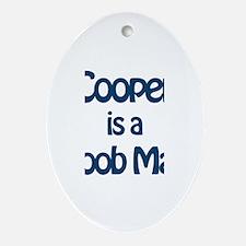 Cooper is a Boob Man Oval Ornament