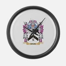 Davis Coat of Arms (Family Crest) Large Wall Clock