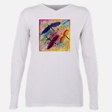 Dragonflies Plus Size Long Sleeve Tee