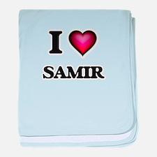 I love Samir baby blanket