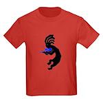 Kokopelli Violin Kids Dark T-Shirt