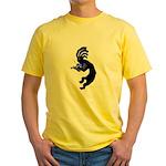 Kokopelli Violin Yellow T-Shirt