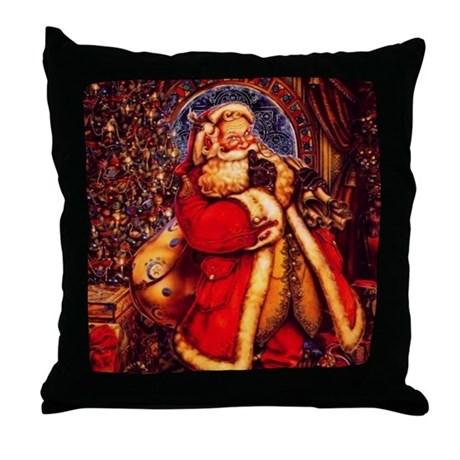 Should I Throw Away Old Pillows : Old Fashioned Santa Throw Pillow by nature_tees