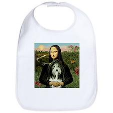 Mona Lisa & Beardie #9 Bib