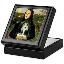Mona Lisa & Beardie #9 Keepsake Box