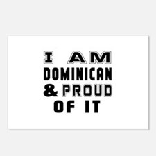 I Am Dominican And Proud Postcards (Package of 8)