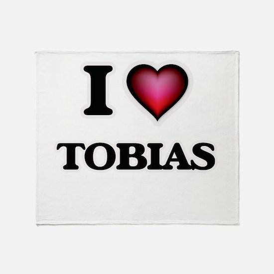 I love Tobias Throw Blanket
