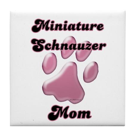 Mini Schnauzer Mom3 Tile Coaster