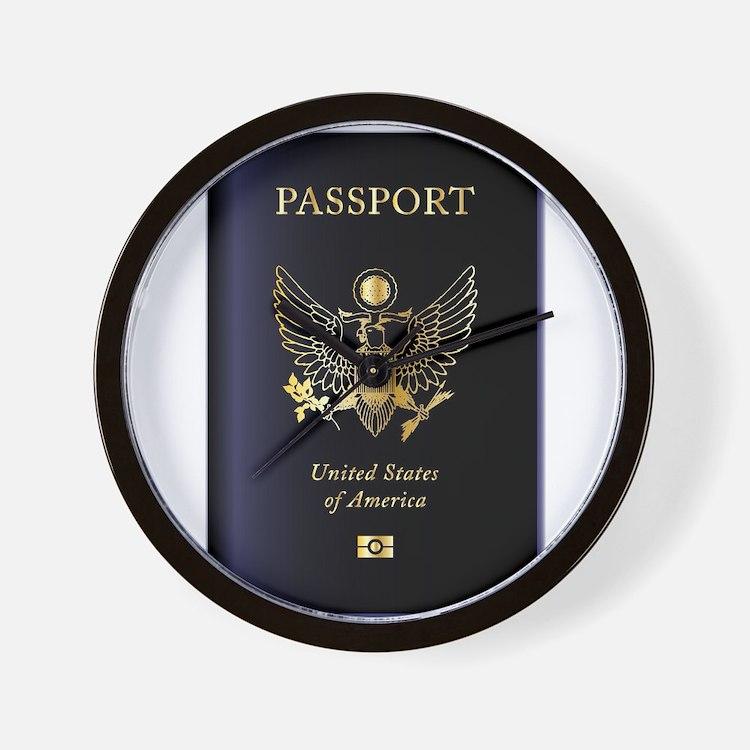 United States of America Passport Wall Clock