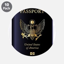 """United States of America Pas 3.5"""" Button (10 pack)"""