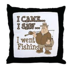 I Came... I Saw... Throw Pillow