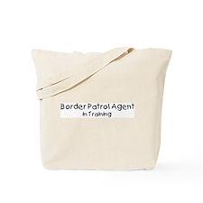 Border Patrol Agent in Traini Tote Bag