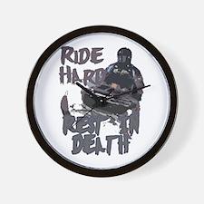 Ride Hard Wall Clock