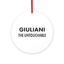 Giuliani- vs- The Mob Ornament (Round)