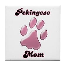 Pekingese Mom3 Tile Coaster