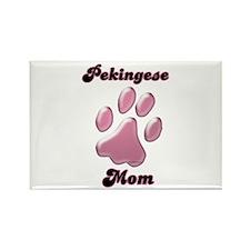 Pekingese Mom3 Rectangle Magnet