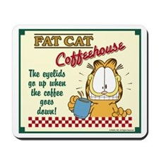 Coffeehouse Garfield Mousepad