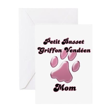 PBGV Mom3 Greeting Card