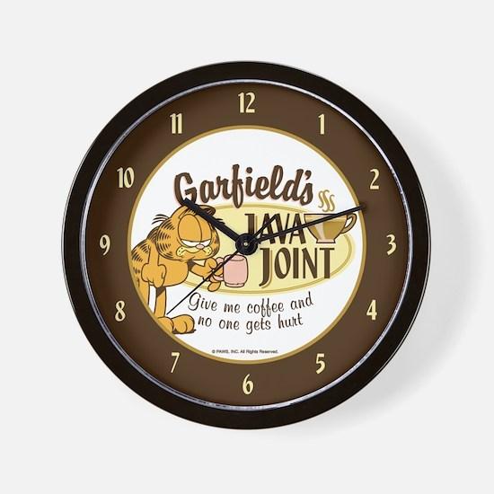 Java Joint Garfield Wall Clock