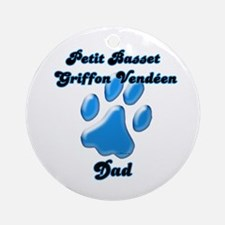 PBGV Dad3 Ornament (Round)