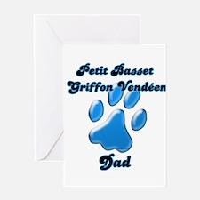 PBGV Dad3 Greeting Card