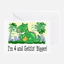 I'm 4 Dinosaur Greeting Card